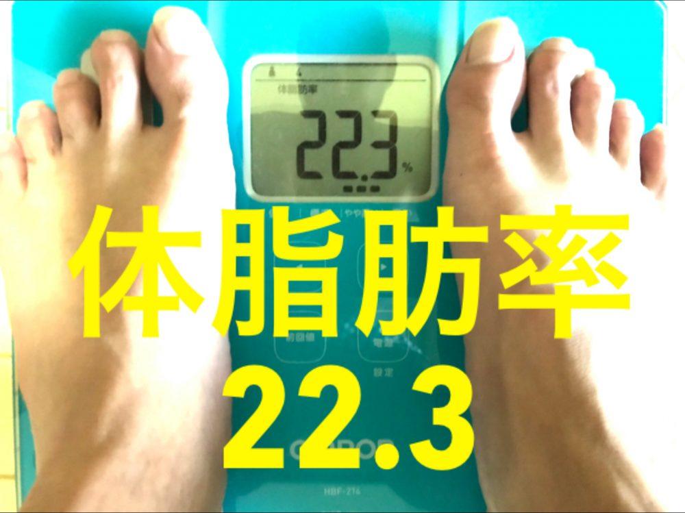 酵素生活1週目 体脂肪率