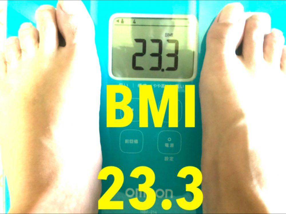 酵素生活2週目 BMI