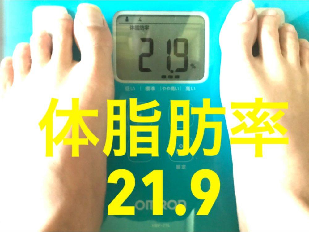 酵素生活4週目 体脂肪率